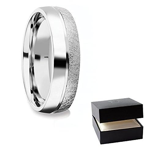 Herrenring Silber 925 Ehering Trauring Hochzeitsring Herren flach Verlobung Verlobungsring