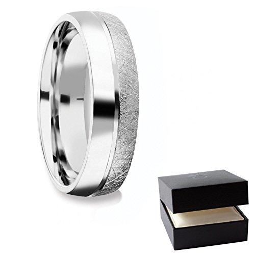 Herrenring Silber 925 Ehering Trauring Hochzeitsring Herren flach Verlobung Verlobungsring Herren Herr Freundschaftsring modern schlicht FF384 SS92560 (Jade Verlobungsringe)