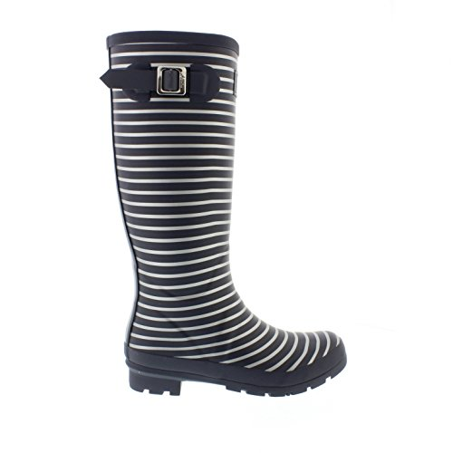 Welly Print - Grey Silver Stripe Gris