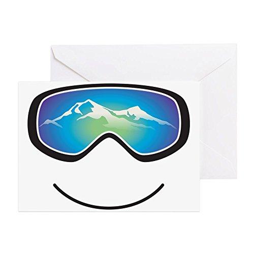 CafePress Brille schwarze Grußkarte, Notizkarte, Geburtstagskarte, blanko Innenseite matt