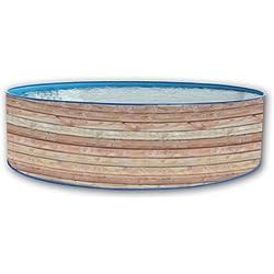 Piscine circulaire Hors sol 450x90 Paroi Rigide Laquée Pinus Promo TOI