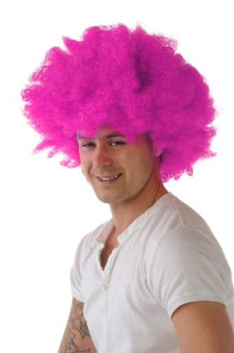 Hair Wig Afro Pink by CC ()