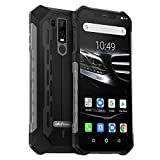Ulefone Armor 6E (2019) Outdoor Smartphone Qi fähig 6,2 Zoll FHD+ Display, Helio P70 Android 9 Handy IP68 Wasserdicht, 4GB RAM+64GB Speicher,16MP+2MP+8MP Kamera, 5000mAkku 4G Globale Version, Schwarz
