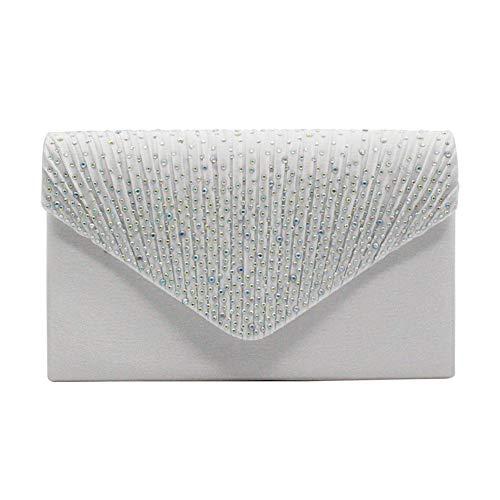 DRENECO Damen Diamant Umschlag Clutch Bag Abend Party/Braut Hochzeit/Handtasche -