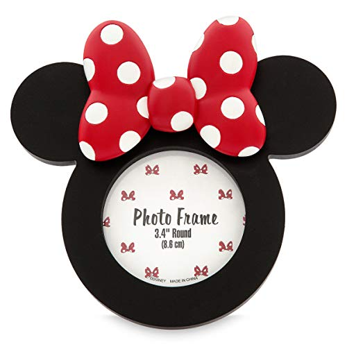 DisneyParks Bilderrahmen Minnie Bows Icon, rund, roter und schwarzer Rahmen