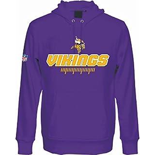 Majestic Minnesota Vikings Fanwear Hoodie NFL Sweatshirt Lila M