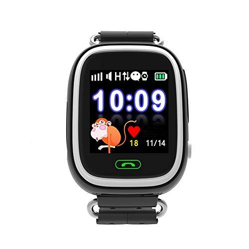 Jslai Localizador GPS Niños Reloj Rastreador Pantalla Táctil Smartwatch para Niños con SOS Reloj Despertador Anti-perdida GPS Kid Tracker Reloj de pulsera inteligente para iPhone Compatible con Android (Negro)