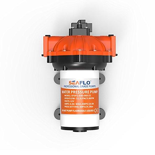 Seaflo 12Volt HIGH Druck Wasser Pumpe 11,5l/min 3.0GPM 60PSI mit automatischer Schalter für Marine RV Boot Automotive