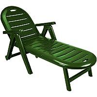 Sp Garden Tumbona Plegable, Verde, 56x189x69 cm, 42609