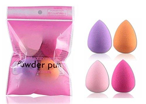 Demarkt Puff Applicateur Blender Cosmétiques éponge Maquillage Gel De Silice Crème Poudre Foundation Bouffée Pour Crèmes Liquides Random Color 4PC
