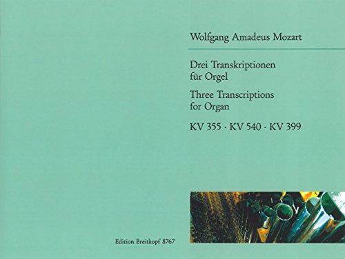 3 Transkriptionen für Orgel (EB 8767)
