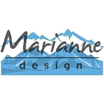 14 x 8 x 0,5 cm Marianne Design LR0510 Creatables Horizon Snowy Mountains M/étal Blue