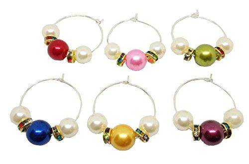 e Set mit Perlen handgemachte personalisierte Set von 6Für Home Kitchen Hochzeit Party Dekoration und Supplies von BIPY (Personalisierte Party Supplies)