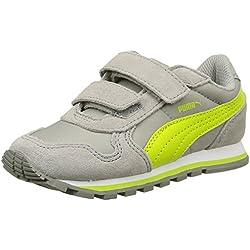 PumaST Runner NL V Inf - Zapatillas Niños-Niñas , color Gris, talla 34