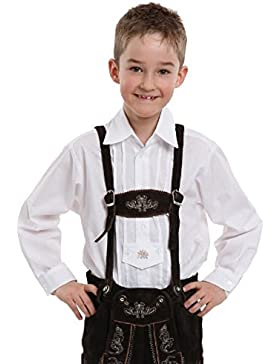 Kinder-Trachtenhemd in weiß - 30040
