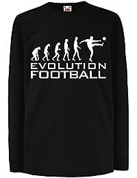 lepni.me Niños/Niñas Camiseta La Evolución del Fútbol - Copa del Mundo de Fútbol, Camisa de Ventilador del Equipo,…