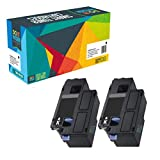 2 Do it Wiser Kompatibel Toner für Dell E525w | 593-BBLN 593-BBLL 593-BBLZ 593-BBLV - Schwarz