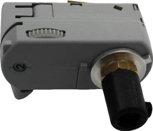 GlobalTrac 3-Phasenstromschiene Ausspeiser Stromabnehmer mit Zugentlastung für 3x1,5qmm grau silbergrau