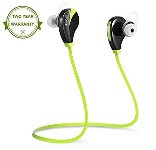 Bluetooth Kopfhörer In Ear Sport Earbuds Wireless Ohrhörer mit Mikrofon Noise Cancelling Stereo Kopfhörer Wasserdicht Schweißfest für Laufen Joggen Fitnessstudio von SPORCH (Noise Mikrofon Cancelling-ohrhörer Mit)