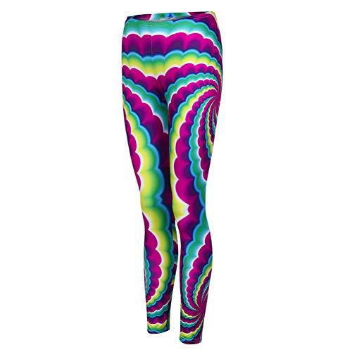 YOGOAOO Frauen Push Up Fitness Mode Elastische Spandex Hohe Taille Trainingshose Weibliche Floral Bedruckte Leggings (Floral Spandex-leggings)