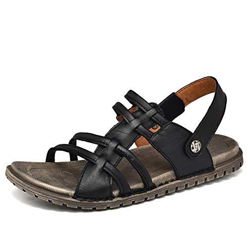 Männer Gladiator Sandalen Flip Flops Leder Keine Slip Flat Peep Toe Wasserschuhe Frauen Sommerweg-resistente Sandal Slippers -