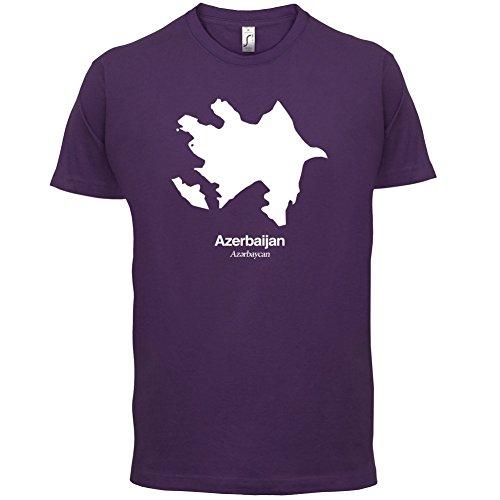 Azerbaijan / Aserbaidschan Silhouette - Herren T-Shirt - 13 Farben Lila
