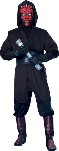Star Wars Deluxe Herren Kostüm Darth Maul Größe (Star Erwachsene Deluxe Kostüme Wars Darth Maul)
