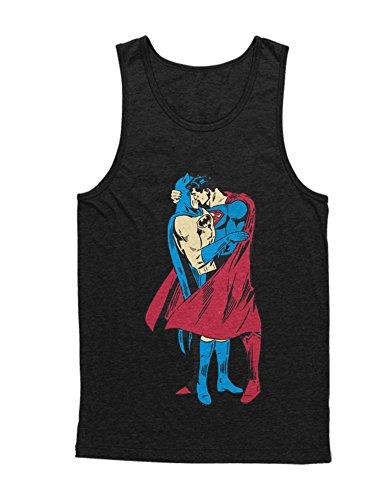 Kostüm Pennyworth Alfred - Hypeshirt Tank-Top Bat and Super IN Love H549932 Schwarz M