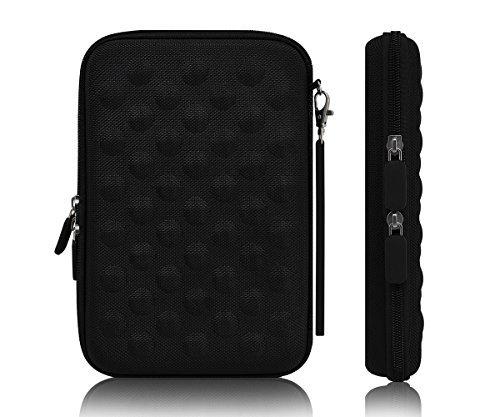 Xcessor Protectron Hartplastik Rau Portable Schutzhülle mit Reißverschluss für 7 - 8'' Inch Tablets und E-Book-Readern (Kompatibel mit Meisten Tablet-PC's und E-Book-Reader Mit der Größe aus 7 - 7.9 - 8