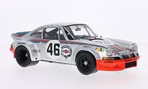 Porsche 911 Carrera RSR, No.46, Martini racing, Martini, 24h Le Mans, 1973, voiture miniature, Miniature déjà montée, Spark 1:18