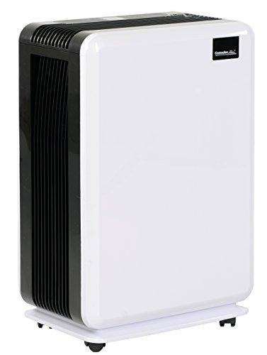 Comedes Demecto 20 – Elektrischer Luftentfeuchter für Badezimmer, Wohnzimmer, Schlafzimmer und Keller bis zu 90m³, bis zu 20 Liter am Tag, inklusive Abtauautomatik, Timer und innovativer temperaturabhängiger Automatikfunktion