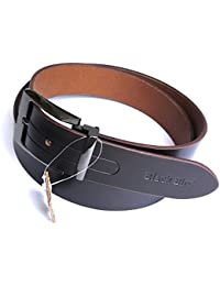 Genuine Premium Italian Leather Formal Brown Belt by BlackBird