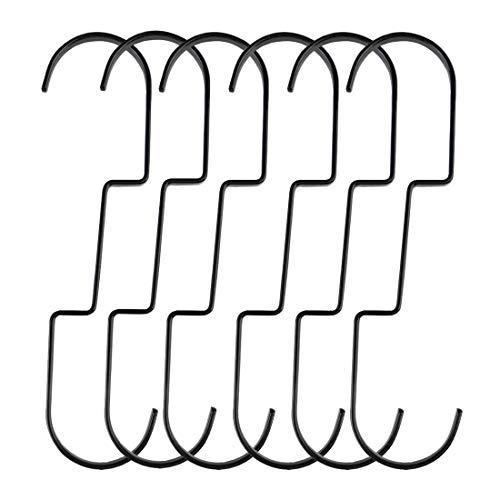 sourcing map S-förmige Haken Oberfläche Kleiderbügel Halter Küche Badezimmerschrank Regal Metallbeschichtung für Kaffeetassen Utensilien Kleidung Handtücher Hängepflanzen Töpfe 6pcs / 30x5cm