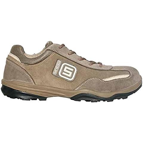 SARATOGA scarpa da lavoro GOLD SCAMOSCIATA bassa EU 40