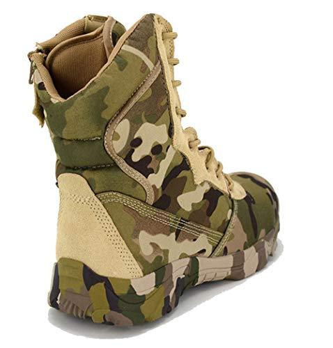 QIKAI Taktische Stiefel Wasserdicht Magnum-Tarnanzug Mit Hohen Taktischen Kampfstiefeln Wüstenstiefel Für Outdoor-Klettern,Camouflage-38