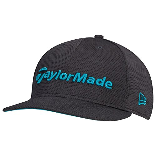 TaylorMade 2017 Performance New Era Tour 9Fifty Flat Bill Hat Structured Mens Snapback Golf Cap Grey/Teal