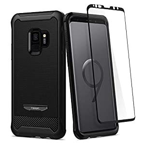 Spigen (592CS22892) Galaxy S9, Spigen [Reventon] Protection EXTREME Anti Choc, Protection Air Cushion, Coque Housse Etui Pour Samsung Galaxy S9 [Noir]