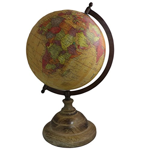 soporte de madera decoracin del hogar cuadro tierra globo geografa ocano grande rotating uaccomprar ahora