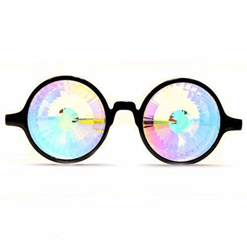 GloFX Herren Kaleidoskop Gläser - Regenbogen-Kristall-Linsen - fraktale Prisma - Rave, festival, edm, Lichtshow 2
