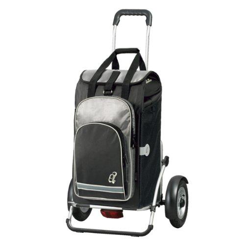Andersen Shopper Royal Plus mit kugelgelagertem Luftrad 25 cm und 60 Liter Einkaufstasche Hydro schwarz mit Kühlfach