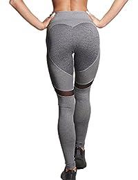 Wenyujh Femmes Leggings Pantalon Sport Sexy avec un Coeur Derrière Pantalon Collant Yoga Fitness Jogging