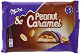 Milka Riegel Peanut Caramel - Je Erdnuss Karamell Riegel im 5er Pack - 13 x 185g