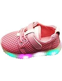 Calzado Deportivo para Bebés, LED Zapatillas Zapatos de Luces para Niños Zapatillas de Deporte Transpirables Zapatillas