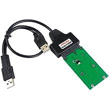 Crazepony-UK Mini PCIe mSATA 5CM SSD a Micro SATA o Adaptador USB Tarjeta Convertidor DIY