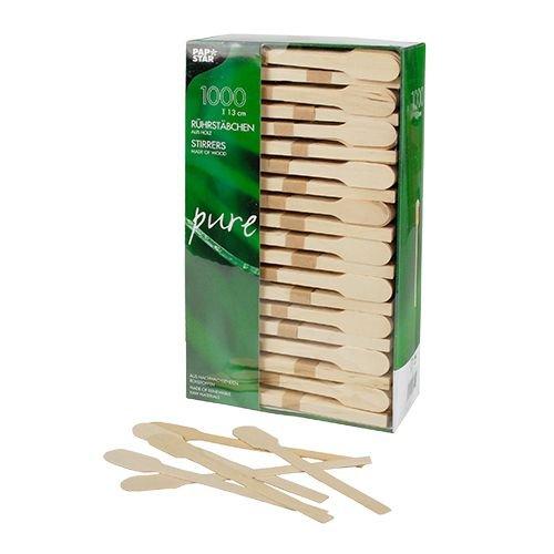 Rührstäbchen, Holz 13 cm.Menge: 2000 St