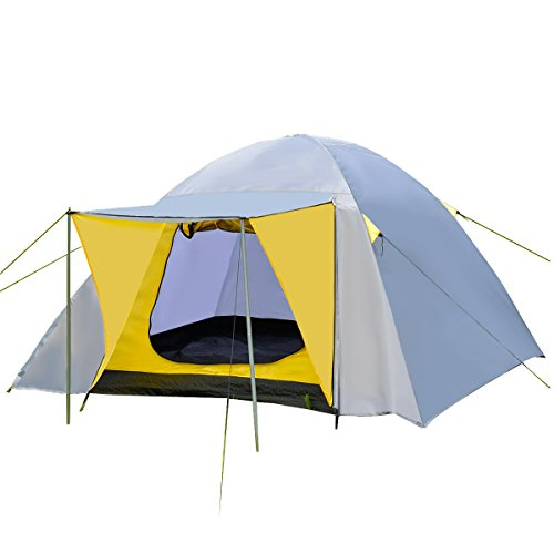 Campingzelt Kuppelzelt 210x210x130cm PE Kunstoff Outdoor Domezelt für 4 Personen