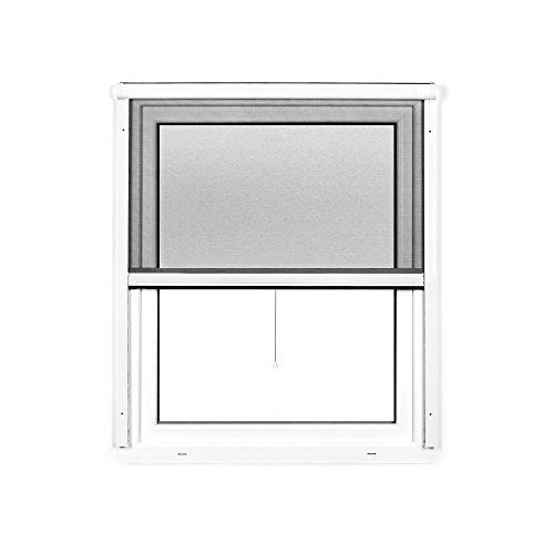 Preisvergleich Produktbild JAROLIFT 2 in 1 Insektenschutzrollo Volaris,  Rahmen PVC 100 x 140 cm,  weiß
