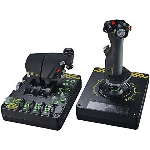 Saitek Pro Flight X-55 Rhino H.O.T.A.S. - Volante/mando (Palanca de mando, Alámbrico, Windows XP Home, Windows XP Home x64, Windows XP Professional, Windows XP Professional x64, PC, USB 2.0, Analogue /