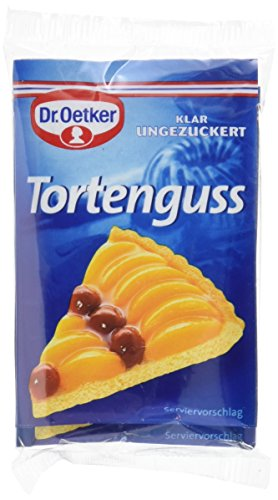 Dr. Oetker Tortenguss klar ungezuckert, 9er Pack (9 x 3 x 12 g)