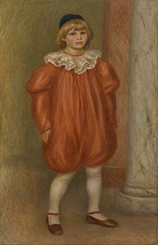 r - Claude Renoir Im Clown Kostüm Leinwandbilder Reproduktionen Gerollte 40X60cm - Figur Gemälde Komplett Texturiert 3D Gedruckt Wandkunst für Mädchenzimmer und Kinderzimmer (3d Drucker Kostüm)